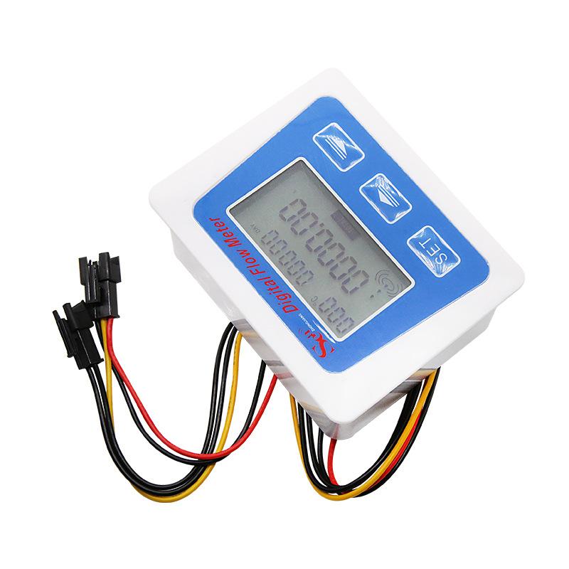 低功耗数显流量计 数显电子水表 数显水流计 电池供电 厂家直售