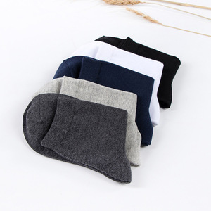 ស្រោមជើង Men Winter Deodorant Cottton Tube Socks Casual Pure Color Socks PZ558421