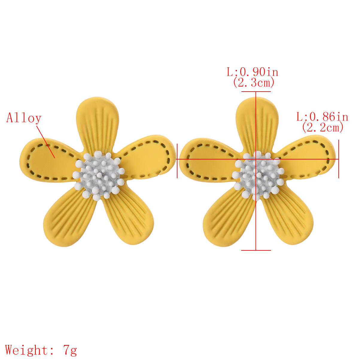 Korean earrings Fashion Small Fresh Alloy Spray Paint Flower Korean Earrings Girl Heart Small and Exquisite Cute Stud Earrings NHJE217064