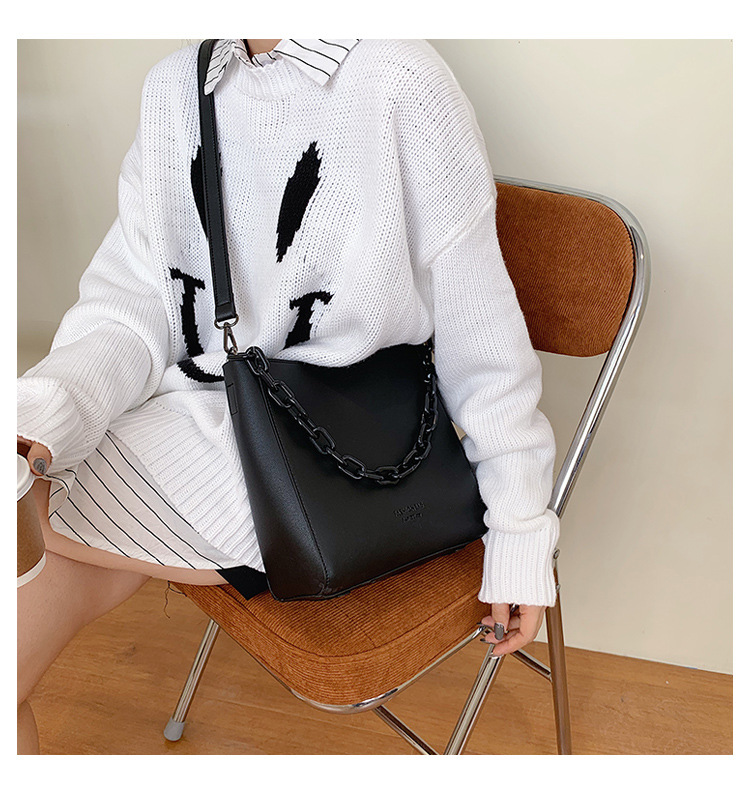large capacity new trendy fashion  messenger bag bucket bag NHLH270283