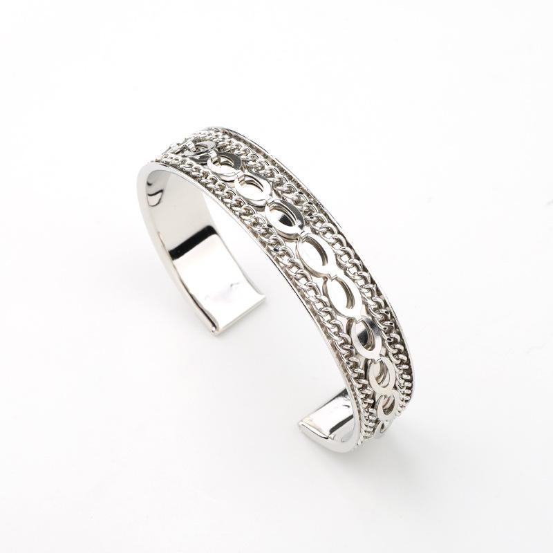 Bracelet punk metal bracelet carved chain bracelet NHGO204374
