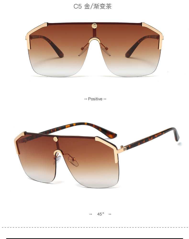 New fashion one-piece sunglasses explosion style fashion large frame sunglasses glasses wholesale NHFY200463