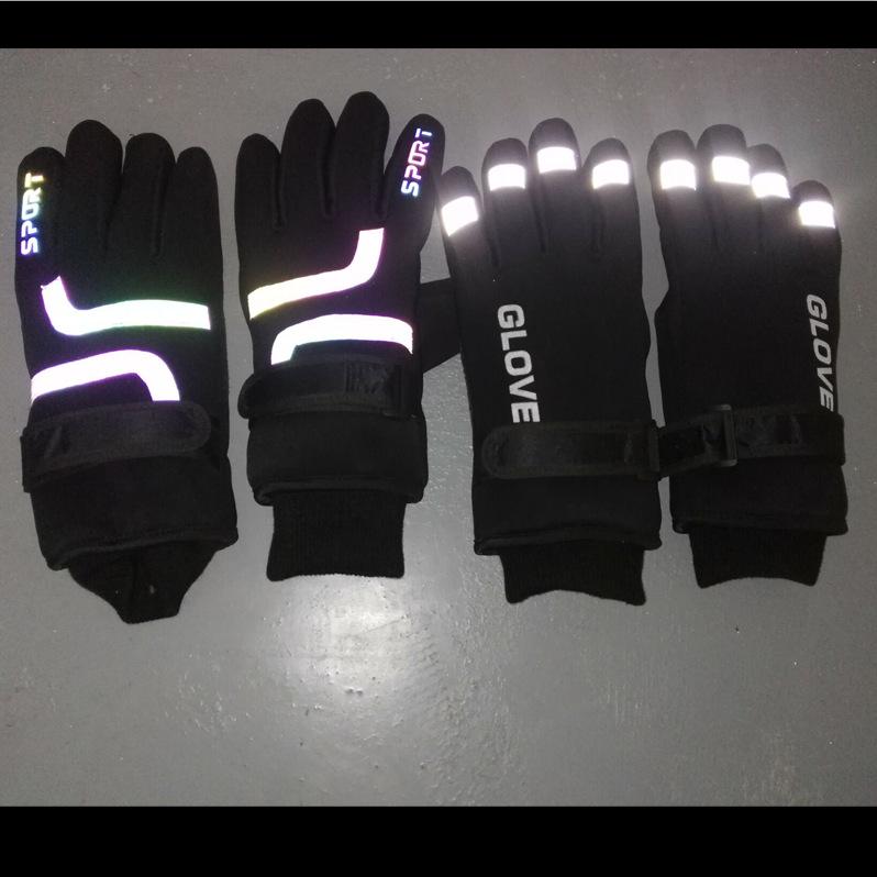 厂家反光冬季摩托自行单车骑行手套全指户外运动滑雪用品保暖手套