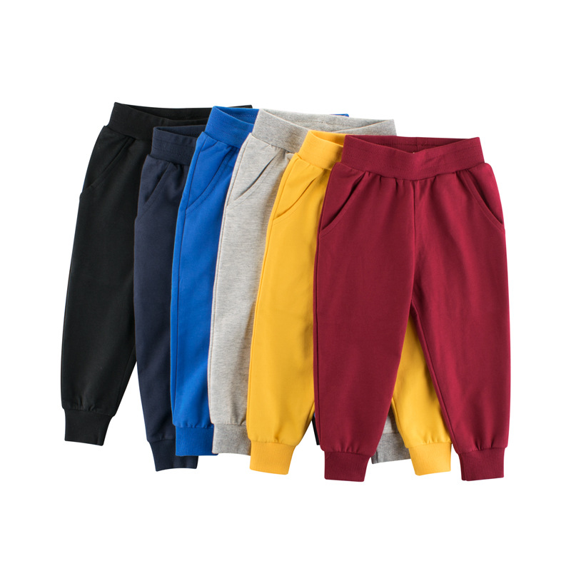 Children's Clothing Solid Color Children's Sports Trousers
