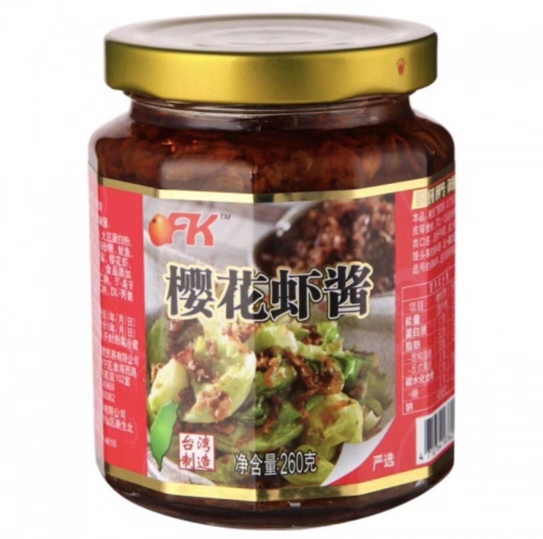 OFK台湾樱花虾酱下饭开胃 260g*12/箱