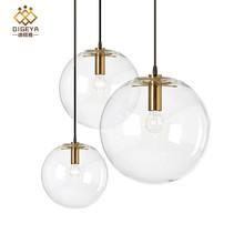 新款 北欧现代简约玻璃圆球吊灯 时尚个性创意 单头餐厅吧台灯饰