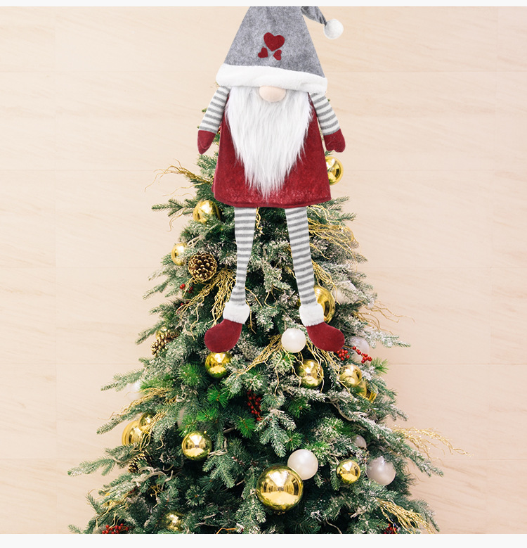 Christmas Decorations Hanging Faceless Doll NHHB285394