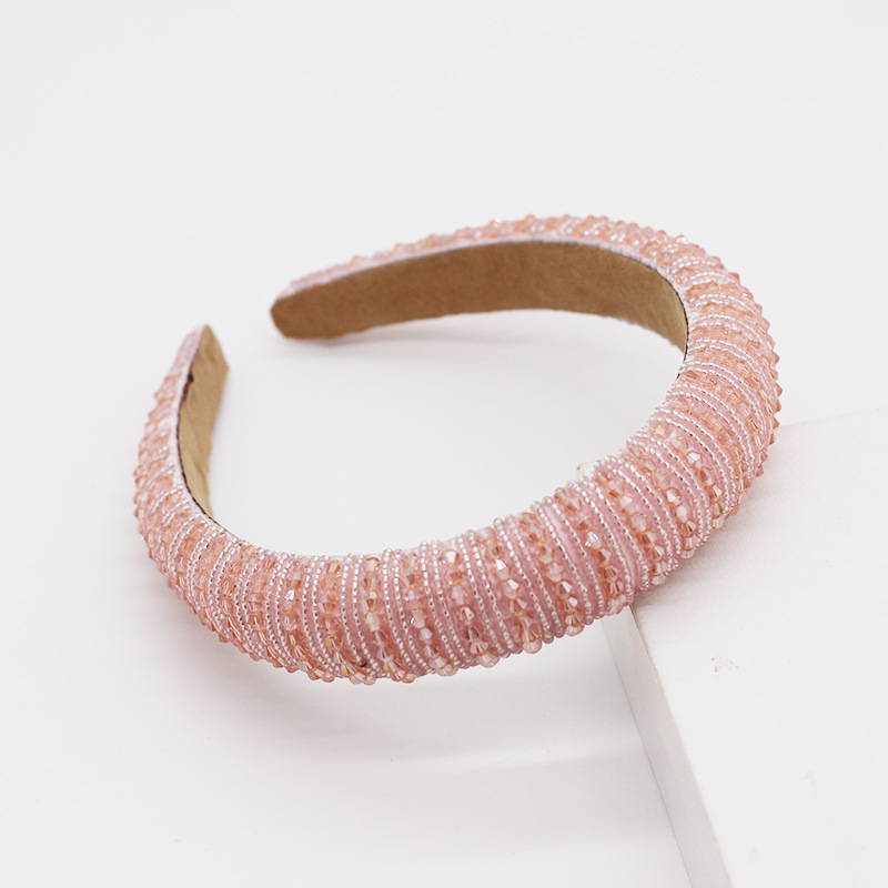 fashion temperament personality colorful crystal size water droplets sponge hair hoop street shooting travel party ladies hair accessories wholesale nihaojewelry NHWJ221534