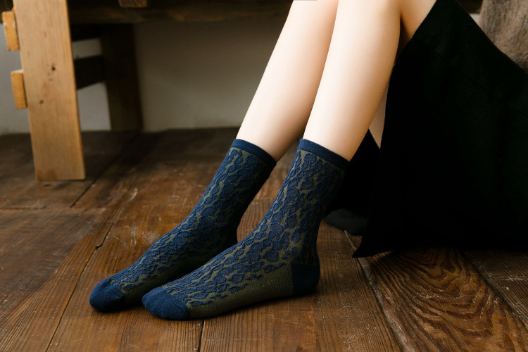 Autumn and winter tube cotton socks running socks NSFN4098