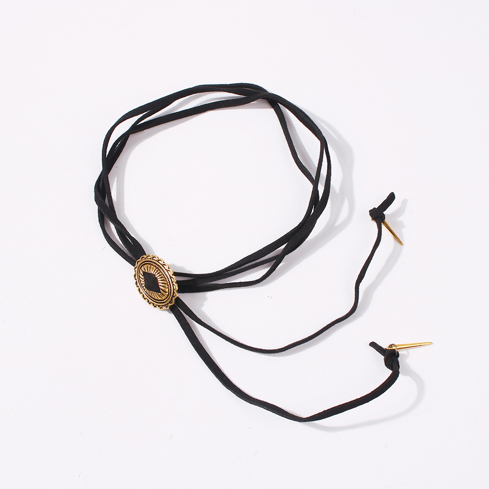 Fashion choker necklace double alloy retro coin fashion necklace wholesales yiwu suppliers china NHMD204435