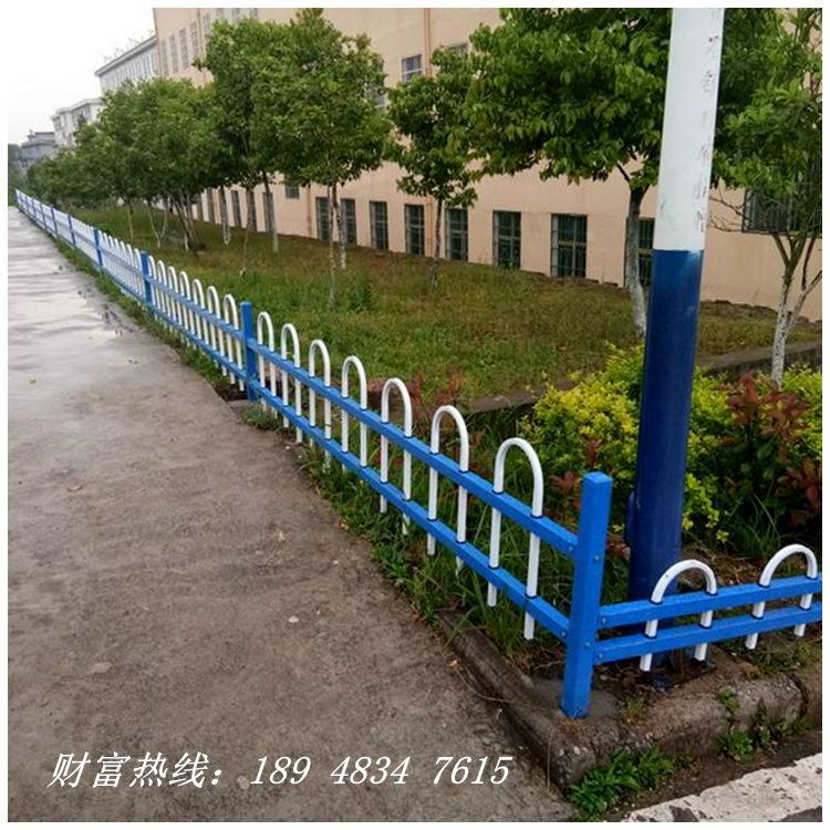 江门小区草坪绿化带道路护栏折弯锌钢篱笆墙 中山花坛围栏园艺