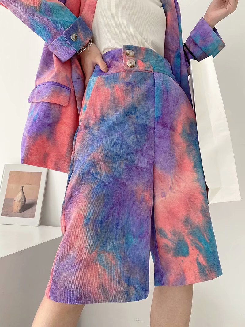 new loose casual all-match thin tie-dye suit pants  NSAM4237