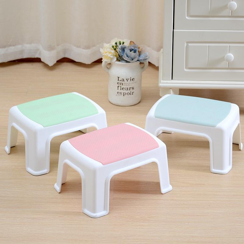 加厚儿童矮凳塑料凳子大小板凳方凳餐桌凳防滑凳换鞋成人脚凳