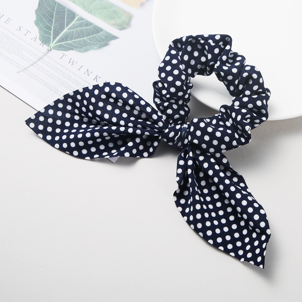 Fashion Polka Dot Pattern Fabric Ladies Multicolor Headband Bow Ribbon Cheap Hair Circle NHLN203494