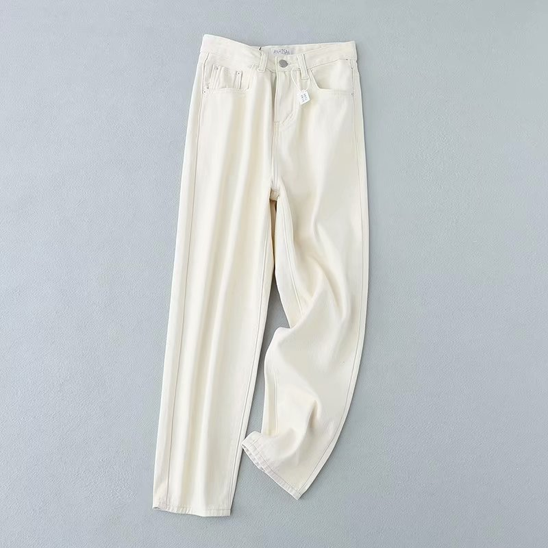 Fashion Wholesale Spring Off-White Casual Jeans Straight Pants NHAM198484