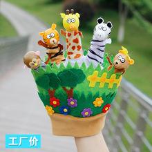 幼儿园五指手套森林动物指偶手偶亲子教具讲故事游戏布袋木偶玩偶