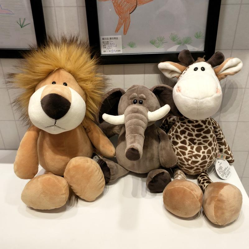 森林动物公仔长颈鹿大象狮子猴子狗老虎活动礼物儿童生日毛绒玩具