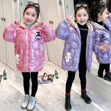 女童卡通棉衣2020新款韩版羽绒棉小熊儿童棉袄加厚中大童棉服外套