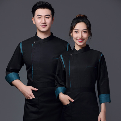Chef overalls Chef work clothes customized hotel kitchen catering restaurant canteen restaurant chef clothing short sleeve customized