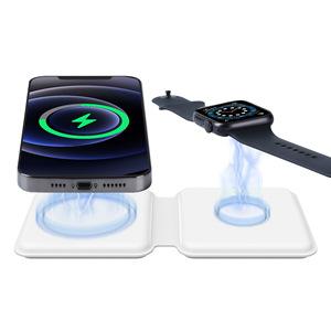 ឆ្នាំ ង សាក ឥត ខ្សែ Two-in-One Folding Wireless Charger Suitable for Apple Watch Magnetic Wireless Charger PZ636830