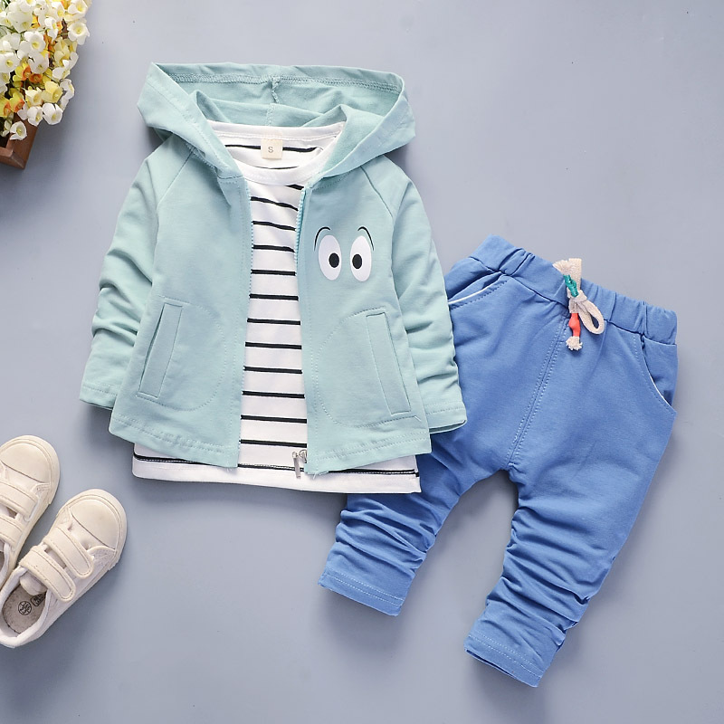Baby spring suit 2020 new spring and autumn 3 children's foreign style stripe leisure 4 boy handsome three piece suit fashion