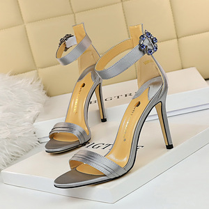 9926-1 the European and American wind sexy high heels for women's shoes with ultra fine words with satin peep-toe with d