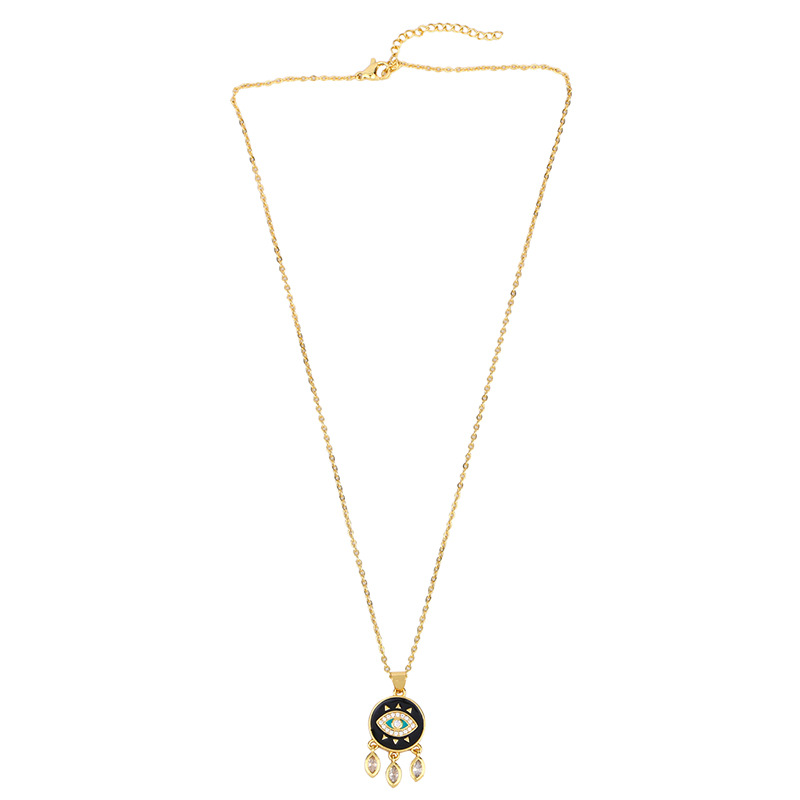 Fashion Simple Cheap Short Chain Necklace with Micro-Set Zircon Love Peach Tassel Pendant NHAS202600