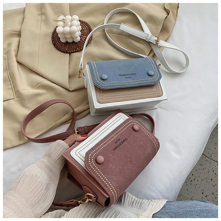 new summer messenger bag Korean fashion frosted small square bag wholesale NHLH252413