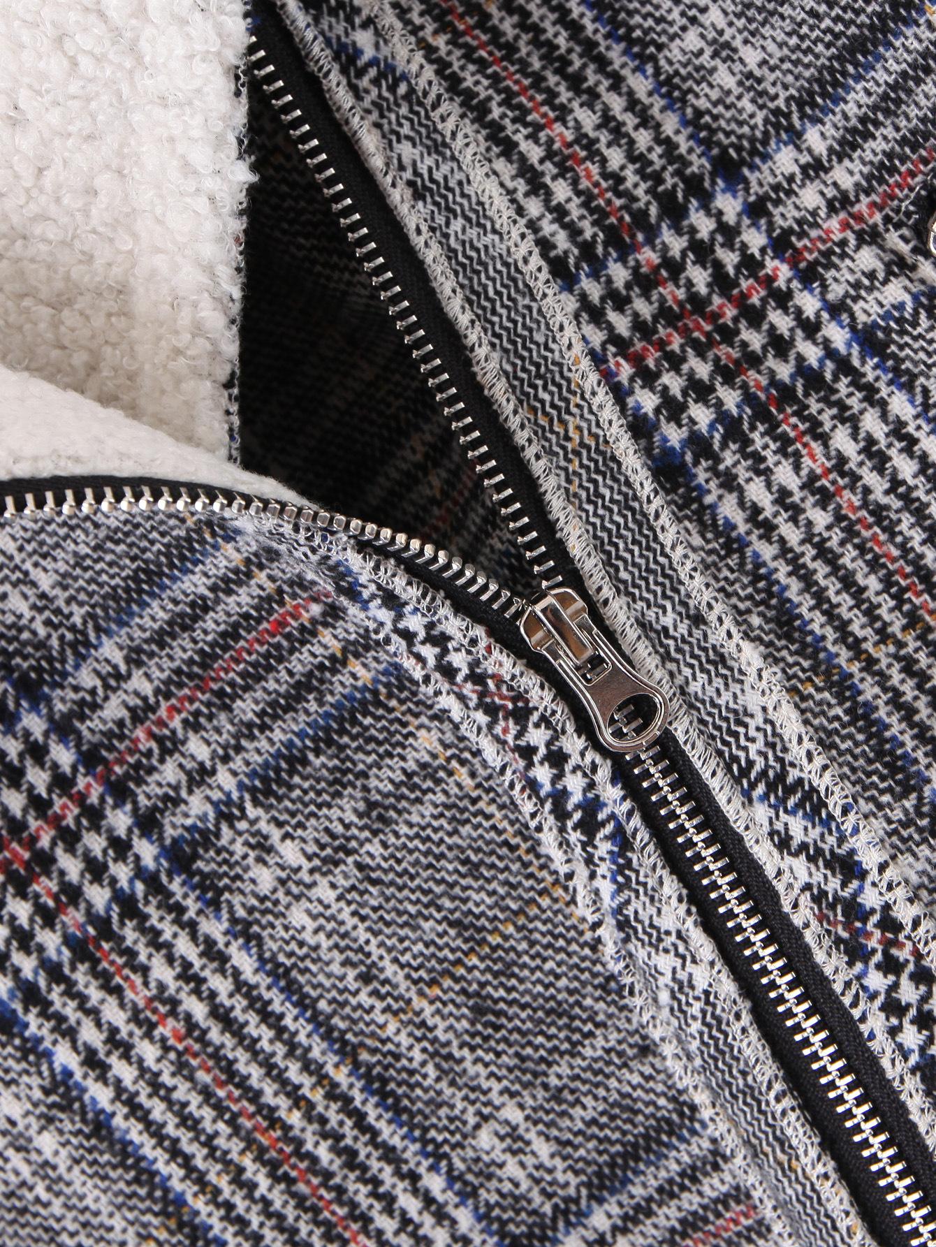 autumn wool plaid short women's woolen coat  NHAM271992