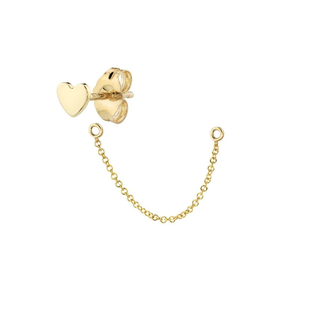 new  love moon long chain  fashion tassel double hoop  single earrings NHLL240001