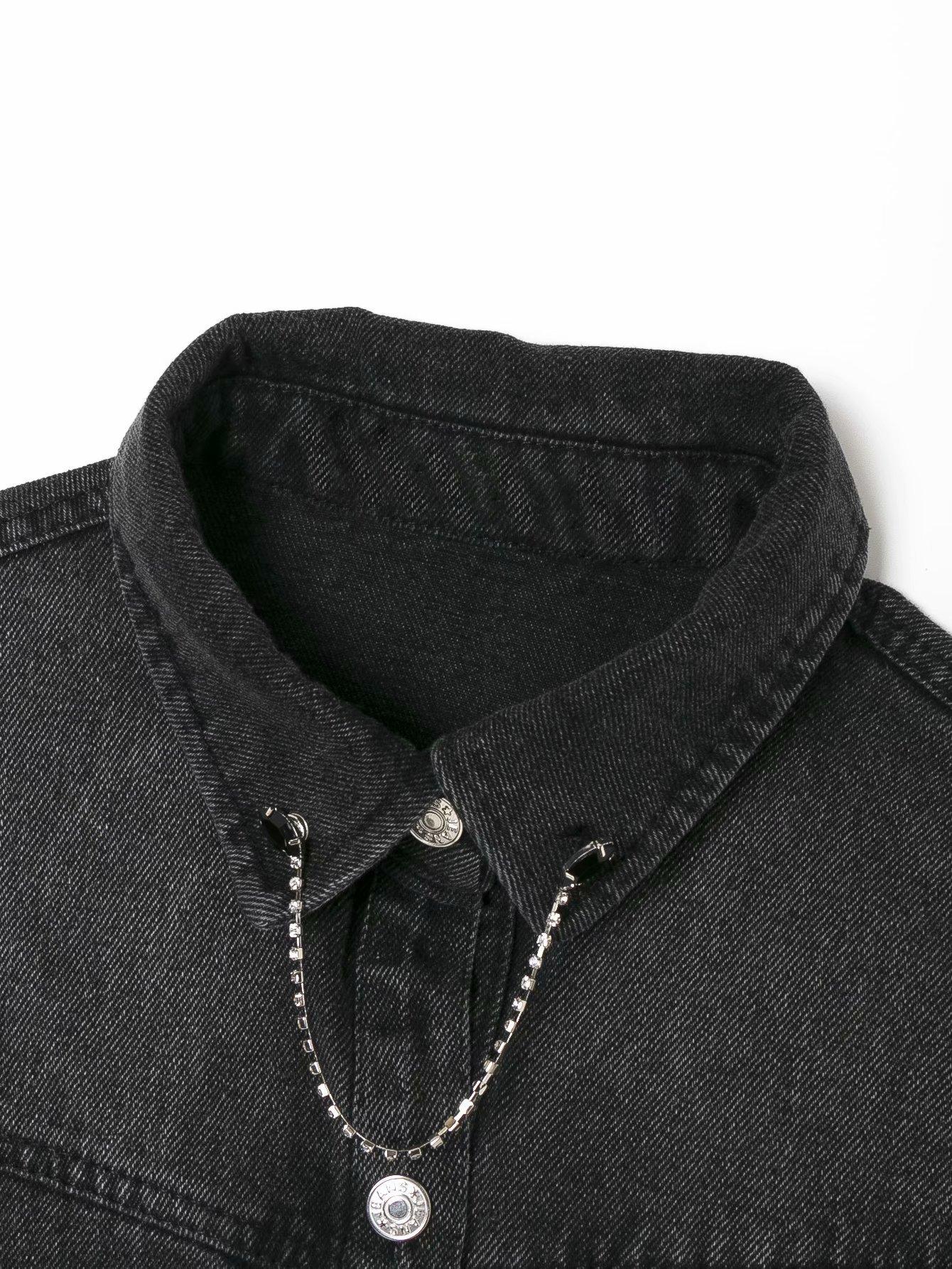 wholesale new fashion autumn costume jewelry inlaid denim jacket NHAM255719