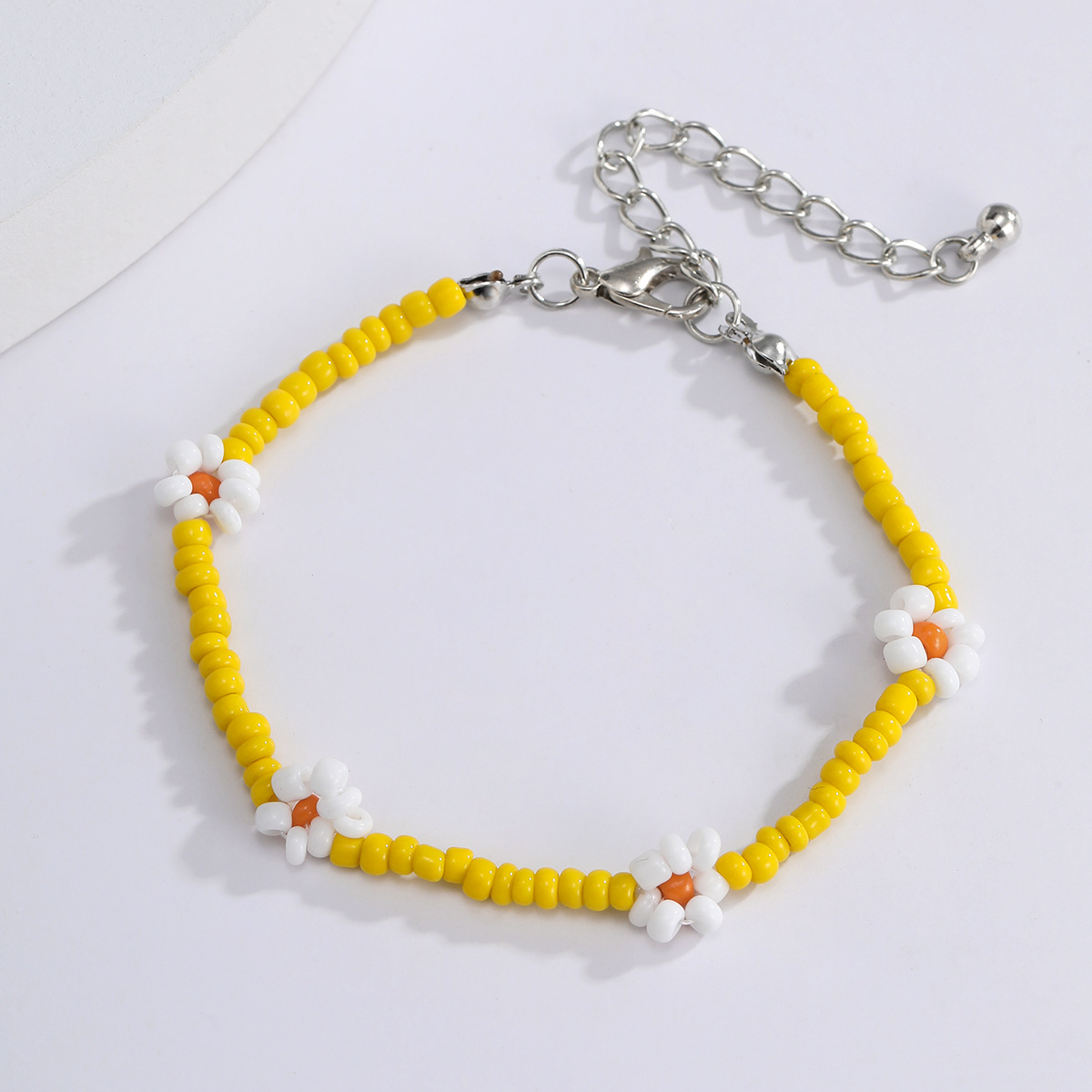 fashion jewelry color beaded ethnic ornaments creative rice beads woven small daisy necklace wholesale nihaojewelry NHXR234259