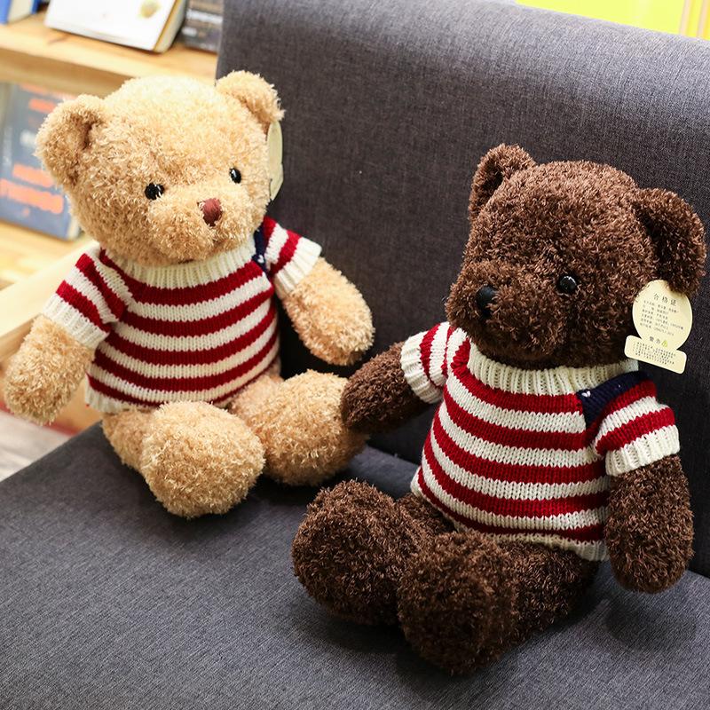 厂家批发毛衣泰迪熊公仔毛绒玩具小熊抱枕布娃娃婚庆礼品礼物小熊