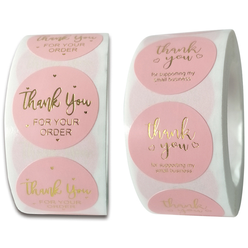 Thank you for your order business sticker 500pcs/roll