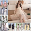 2020 summer new Korean women's chiffon dress women's fashion floral lace skirt foreign trade stall wholesale