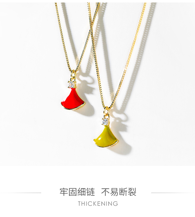 Simple fan-shaped simple necklace new high-end decoration elegant trendy clavicle chain NHPP198683