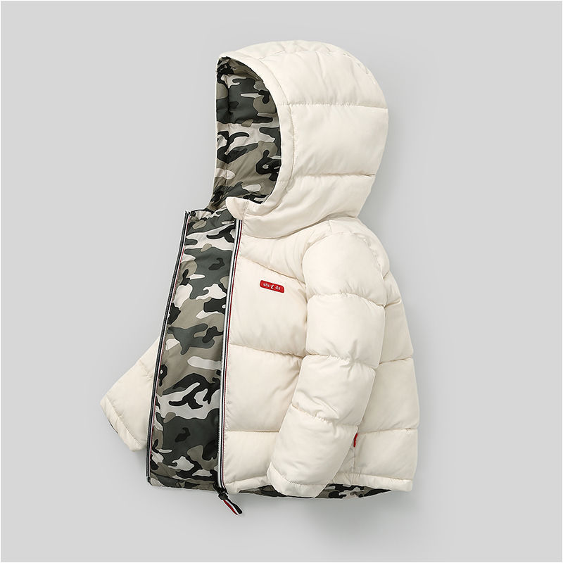 新款儿童羽绒棉服中小童双面穿男童女童加厚韩版冬装棉袄童装外套