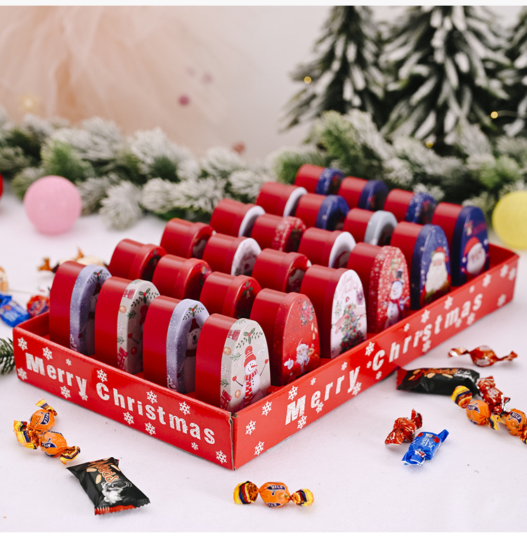 Creative New Boxed Tinplate Box Christmas Candy Box Child Gift Cookie Box Cartoon Box NHHB262288