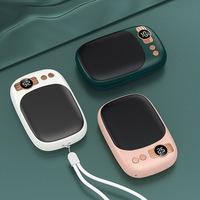 暖手宝充电宝10000毫安 数显移动电源 快速发热2.1A快充共享定制