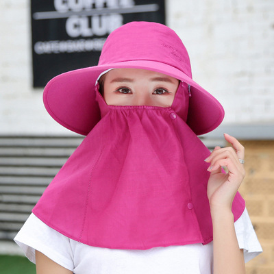 Detachable sunscreen mask female bicycle face protection electric bicycle riding sunshade hat outdoor multifunctional sunshade hat