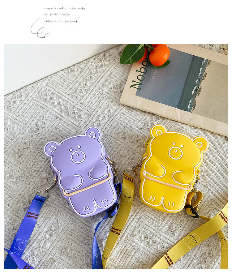 Silicone bag  fashion cute  new girl bag cartoon bear children coin purse boys and girls shopping storage bag nihaojewelry wholesale NHGA223154