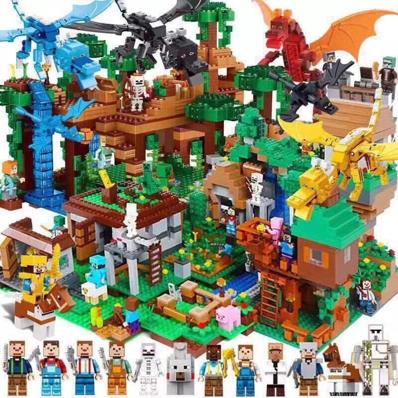 我的世界兼 容乐高积木玩具拼装益智宝宝男女孩子玩具 儿童玩具