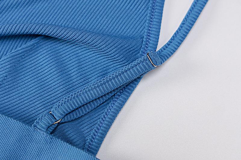 V-neck vest five-point pants sports two-piece yoga suit nihaostyles clothing wholesale NSLJ76049