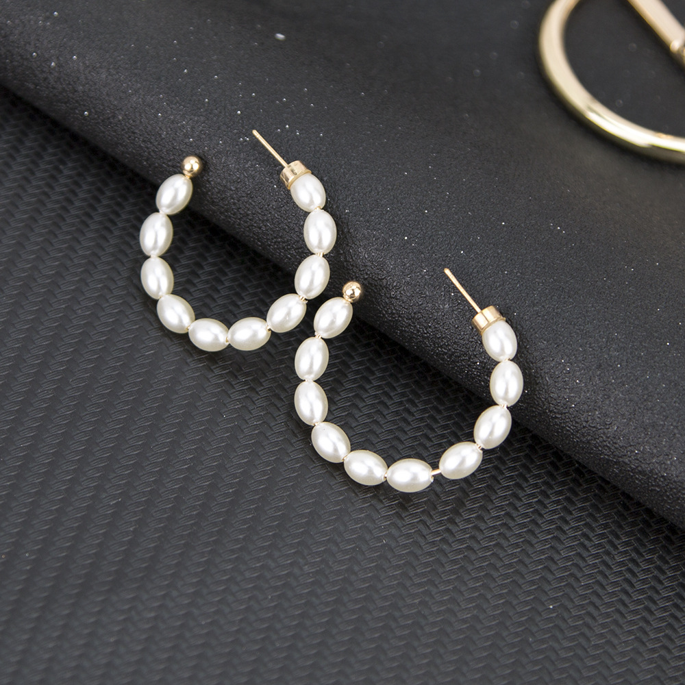 New earrings hoop earrings pearl pendants ear pins wholesale NHKQ194176