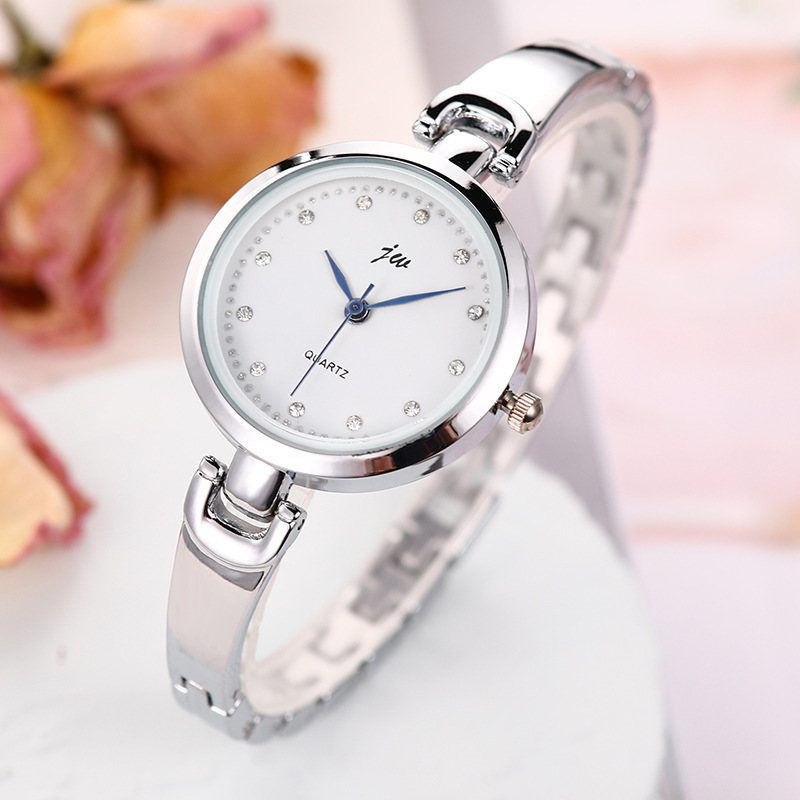 Fashion diamond watch trend stainless steel rhinestone steel band ladies alloy watch NHSS261090