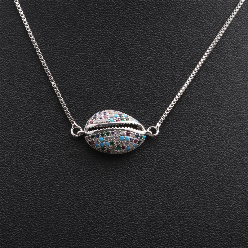 hot sale copper necklace micro inlaid zircon hanging necklace Copper wholesale nihaojewelry NHYL226529