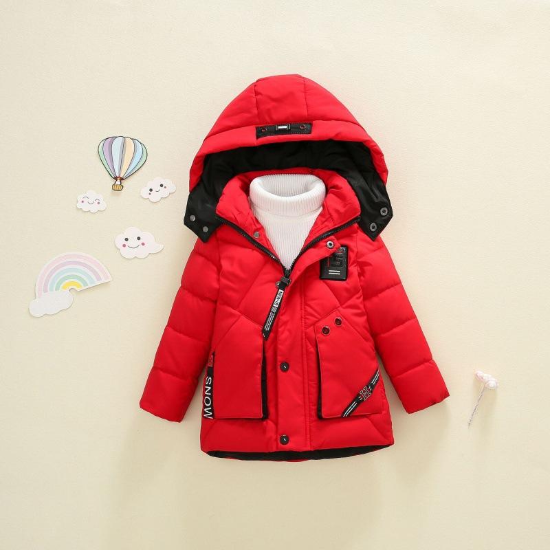 厂家直销 男童潮范新款加厚秋冬款棉服中小童连帽保暖外出服 棉袄