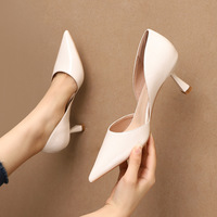 1998-8 han edition fashion pointed mouth shallow high heels hollow out fine with women's shoes sexy club professional OL for women's shoes
