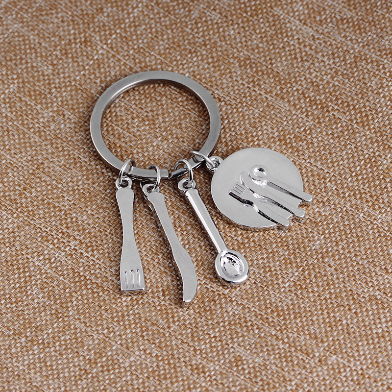 fashion new simple   kitchen three-piece gadget keychain nihaojewelry wholesale NHMO222862