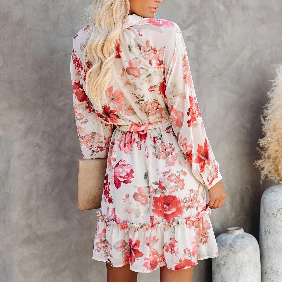 fashion printing high waist dress  NSZH18619